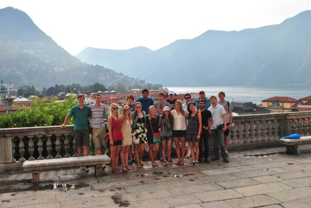 Group photo in Lugano, Switzerland